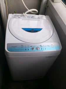 新しい洗濯機(ES-GE55L)の設置後